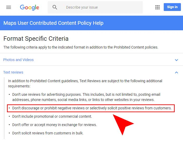 New Google Review Rules - Review Gating